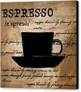 Espresso Madness Canvas Print