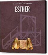 Esther Books Of The Bible Series Old Testament Minimal Poster Art Number 17 Canvas Print by Design Turnpike