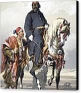 Eunuch Of The Seraglio On A Fine Arab Canvas Print by Amadeo Preziosi