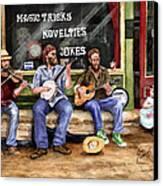 Eureka Springs Novelty Shop String Quartet Canvas Print by Sam Sidders