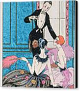 'europe' Illustration For A Calendar For 1921 Canvas Print by Georges Barbier