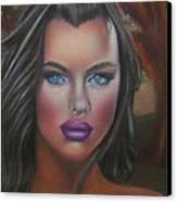 Eve Was Framed Feat Irina Shayk Canvas Print by D Rogale