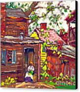 Evening Chore 1910 Canvas Print