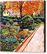 Evening Garden Stroll Canvas Print by David Lloyd Glover