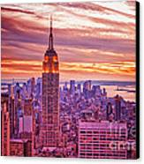 Evening In New York City Canvas Print by Sabine Jacobs
