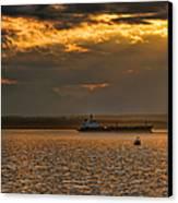 Evening Mariners Puget Sound Washington Canvas Print