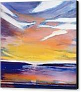 Evening Seascape Canvas Print by Lou Gibbs