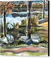 Evening Shadows At Shepherd Mountain Lake  No W101 Canvas Print by Kip DeVore