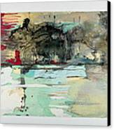 The Storm Behind The Calm Canvas Print by Marie Tosto