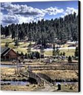 Evergreen Colorado Lakehouse Canvas Print