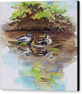 Everythings Just Ducky Canvas Print by Suzanne Schaefer