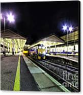 Exeter St Davids By Night  Canvas Print by Rob Hawkins