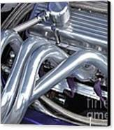 Exhaust Manifold Hot Rod Engine Bay Canvas Print by Allen Beatty