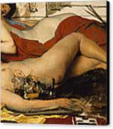 Exhausted Maenides Canvas Print by Sir Lawrence Alma Tadema