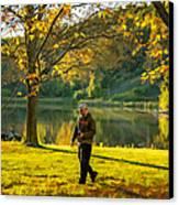 Exploring Autumn Light Canvas Print by Steve Harrington