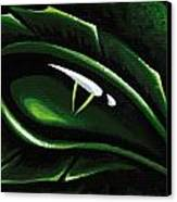 Eye Of The Emerald Green Dragon Canvas Print by Elaina  Wagner