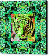 Eyes Of The Bengal Tiger Abstract Window 20130205m180 Canvas Print