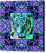 Eyes Of The Bengal Tiger Abstract Window 20130205m80 Canvas Print