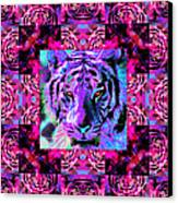 Eyes Of The Bengal Tiger Abstract Window 20130205p0 Canvas Print by Wingsdomain Art and Photography