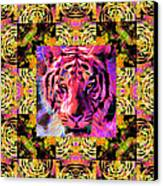 Eyes Of The Bengal Tiger Abstract Window 20130205p80 Canvas Print by Wingsdomain Art and Photography