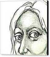 Eyes - The Sketchbook Series Canvas Print by Michelle Calkins