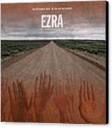 Ezra Books Of The Bible Series Old Testament Minimal Poster Art Number 15 Canvas Print