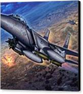 F-15e Strike Eagle Scud Busting Canvas Print