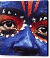 Face Of Carnival Canvas Print by Ian Cumming