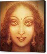 Face Of The Goddess/ Durga Face Canvas Print by Ananda Vdovic