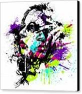 Face Paint 1 Canvas Print by Jeremy Scott