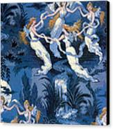 Fairies In The Moonlight French Textile Canvas Print