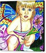 Fairy Child Canvas Print by Judy Moon