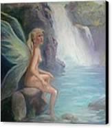 Fairy Of The Secret Falls Canvas Print by Gwen Carroll