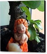 Fairy Puney Cuteness Wiseness Ooak Doll Doll House Canvas Print by TriyaandNora Sculpts