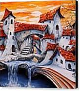 Fairy Tale City - Magic Stream Canvas Print