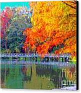 Fall At The Lake Canvas Print