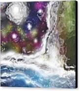 Fall By The Sea Canvas Print by Jessie J De La Portillo