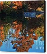 Fall Colors Water Reflection Canvas Print by Robert D  Brozek