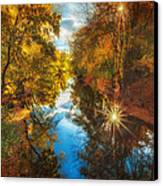 Fall Filtered Reflections Canvas Print by Sylvia J Zarco