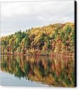 Fall Foliage At Walden Pond Canvas Print by John Sarnie