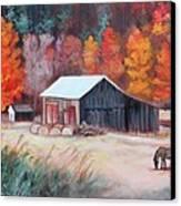 Fall Grazer Canvas Print