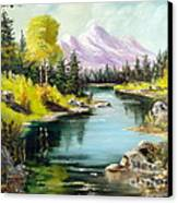 Fall In The Rockies Canvas Print by Lee Piper