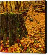 Fall Leaves Mosaic Canvas Print by Dan Mihai