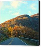 Fall Mountain Road Canvas Print by Candice Trimble