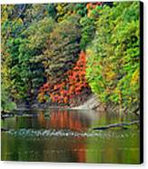Fall Painting Canvas Print by Frozen in Time Fine Art Photography