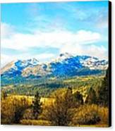 Fall Season In The Sierras Canvas Print by Don Bendickson