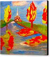 Fall Worship Canvas Print by Mounir Mounir