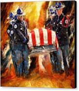 Fallen Officer Canvas Print by Christopher Lane