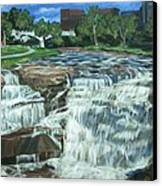 Falls River Park Canvas Print