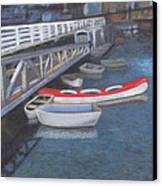 False Creek Ferry Landing Canvas Print by Brenda Salamone